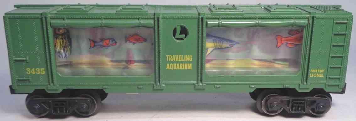 lionel 3435 railway toy aquarium car plastic green fish gauge 0