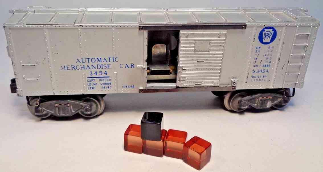 lionel 3454 spielzeug eisenbahn wagen handelswagen silbern spur 0