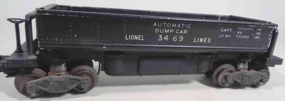 lionel 3469 spielzeug eisenbahn kohle-entladewagen schwarz spur 0