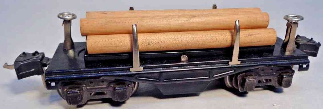 lionel 3651 spielzeug eisenbahn rungenwagen schwarz baumstaemmen spur 0