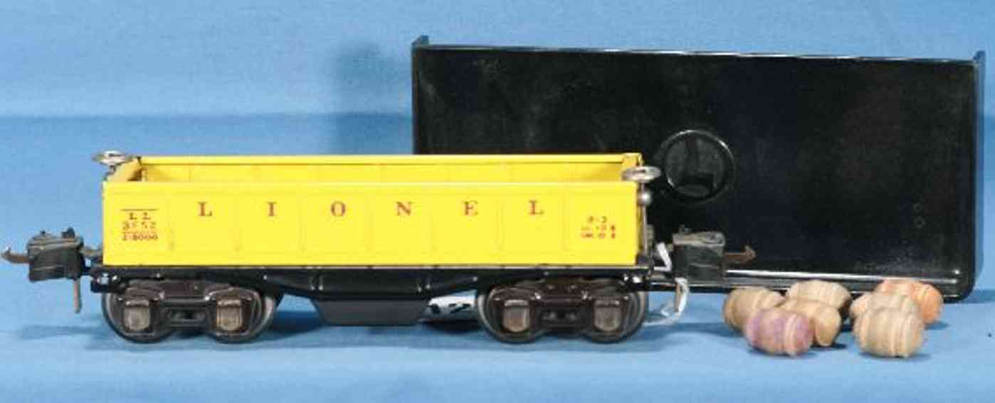 lionel 3652 spielzeug eisenbahn kippwagen gelb spur 0
