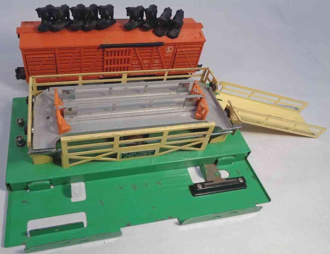 lionel 3656 spielzeug eisenbahn viehwagen mit funktion orange spur 0