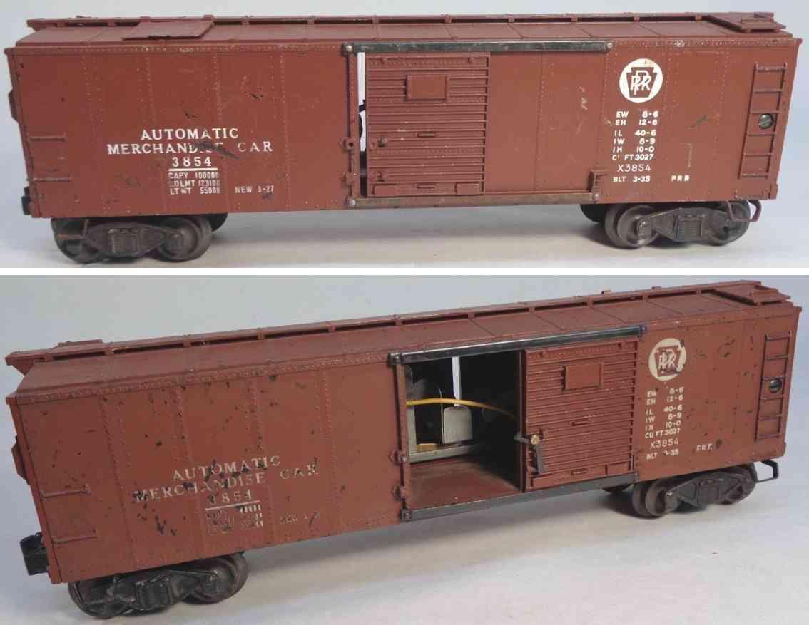 lionel 3854 railway toy merchandise box car tuscan gauge 0