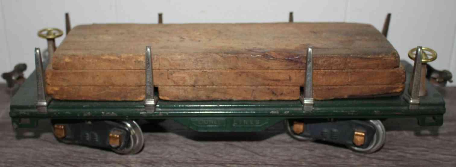lionel 511 type 6 railway toy lumber flat car standard gauge