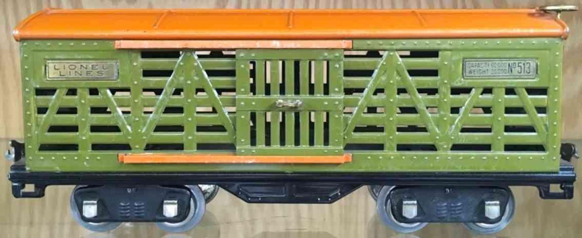 lionel 513 spielzeug eisenbahn viehwagen in orange standard gauge