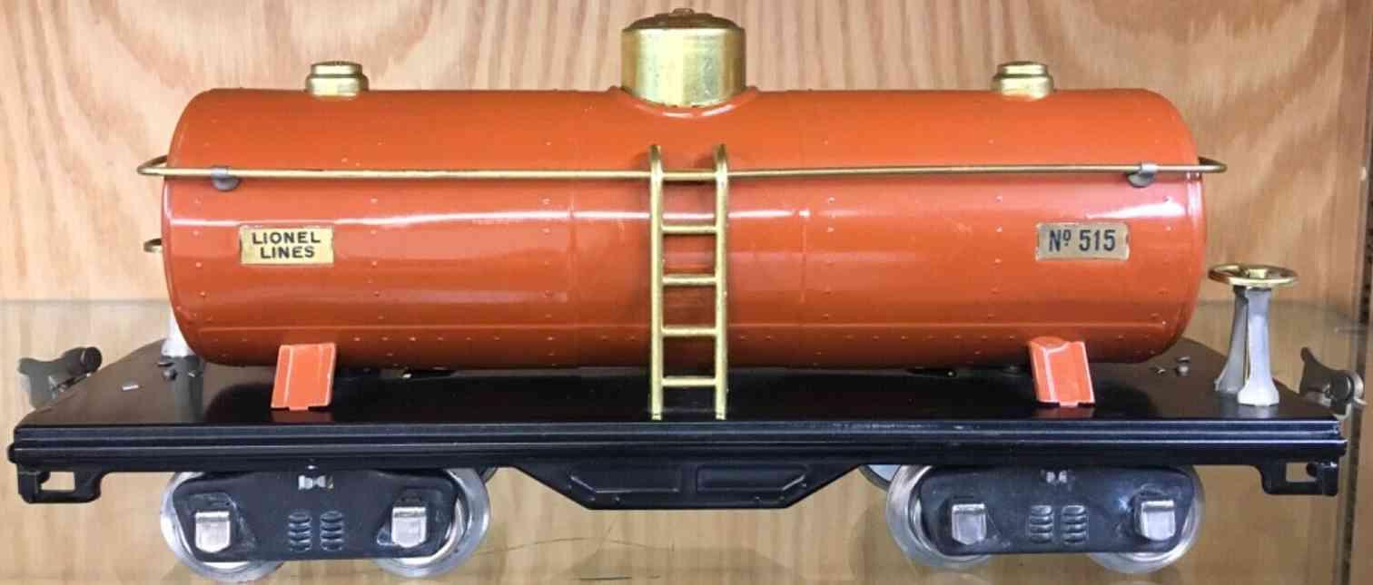 lionel 515 spielzeug eisenbahn kesselwagen terrakotta standard gauge