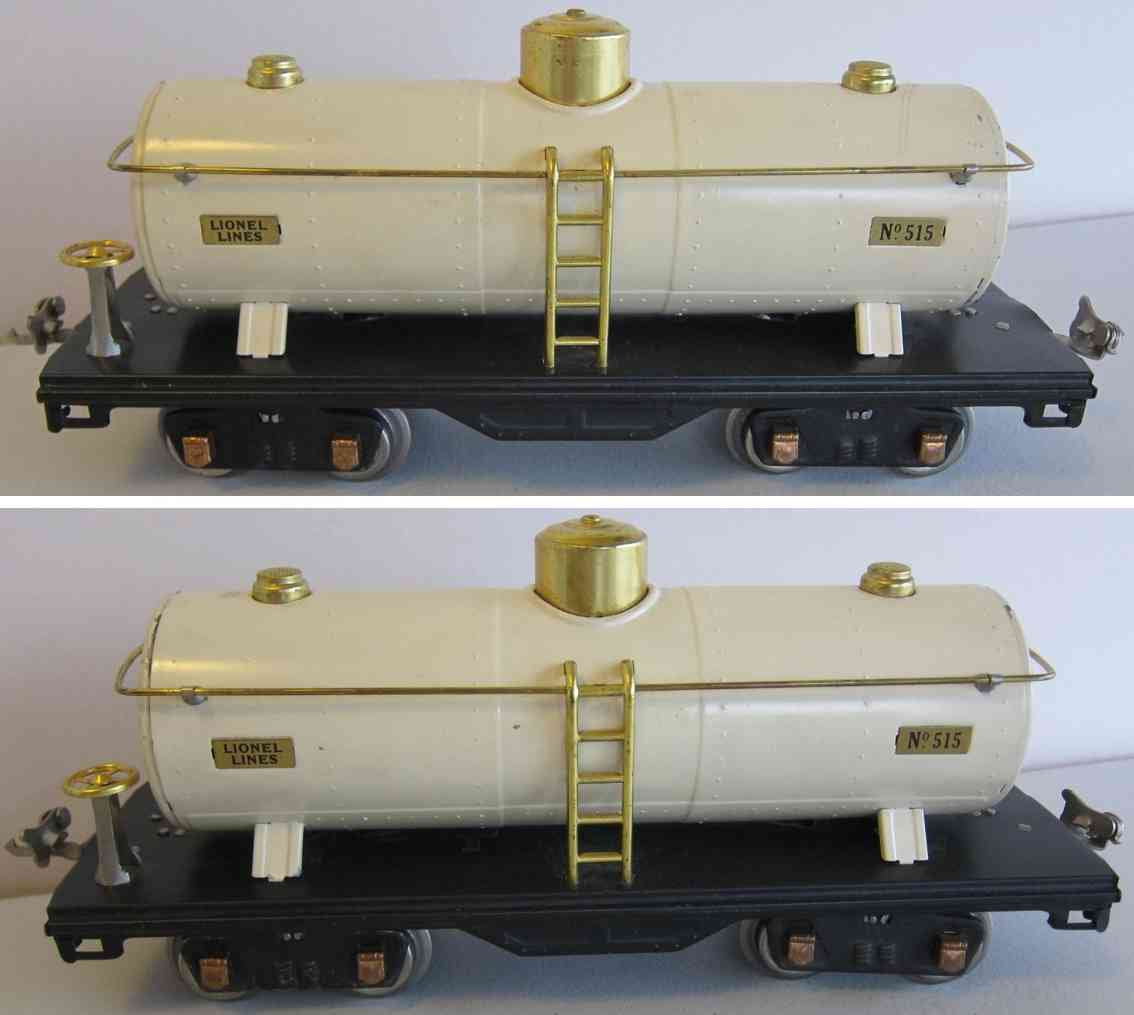 lionel 515 typ 3 spielzeug eisenbahn kesselwagen elfenbein standard gauge