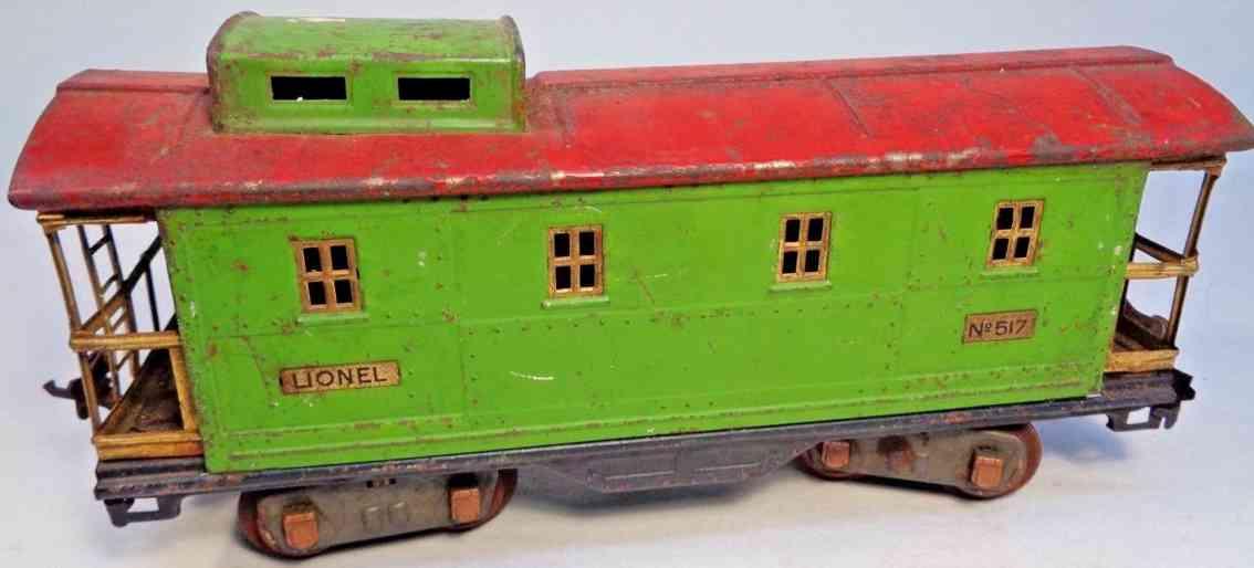 lionel 517  spielzeug eisenbahn caboose gruen rot standard gauge