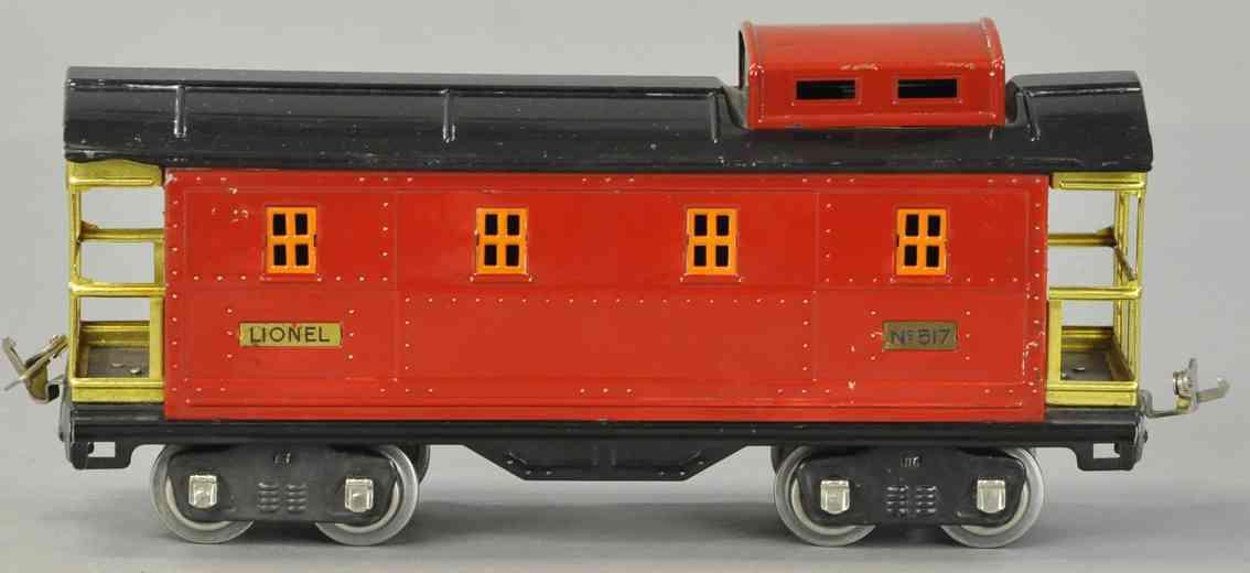 lionel 517  spielzeug eisenbahn caboose schwarz rot standard gauge