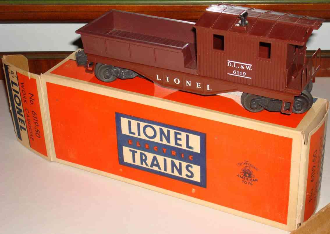 lionel 6119-50 spielzeug eisenbahn caboose in braun spur 0