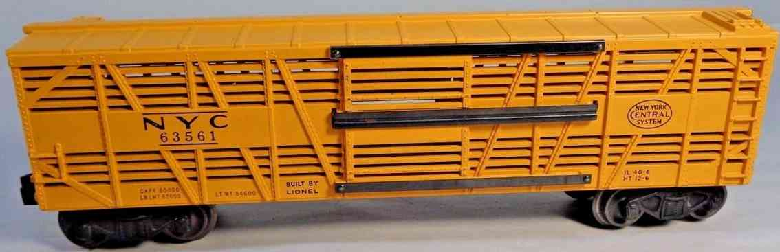 lionel 6356 railway toy cattle car gauge 0