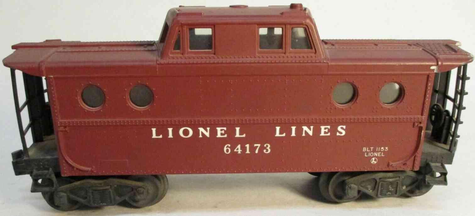 lionel 6417-25 spielzeug eisenbahn caboose kunststoffgehaeuse spur 0
