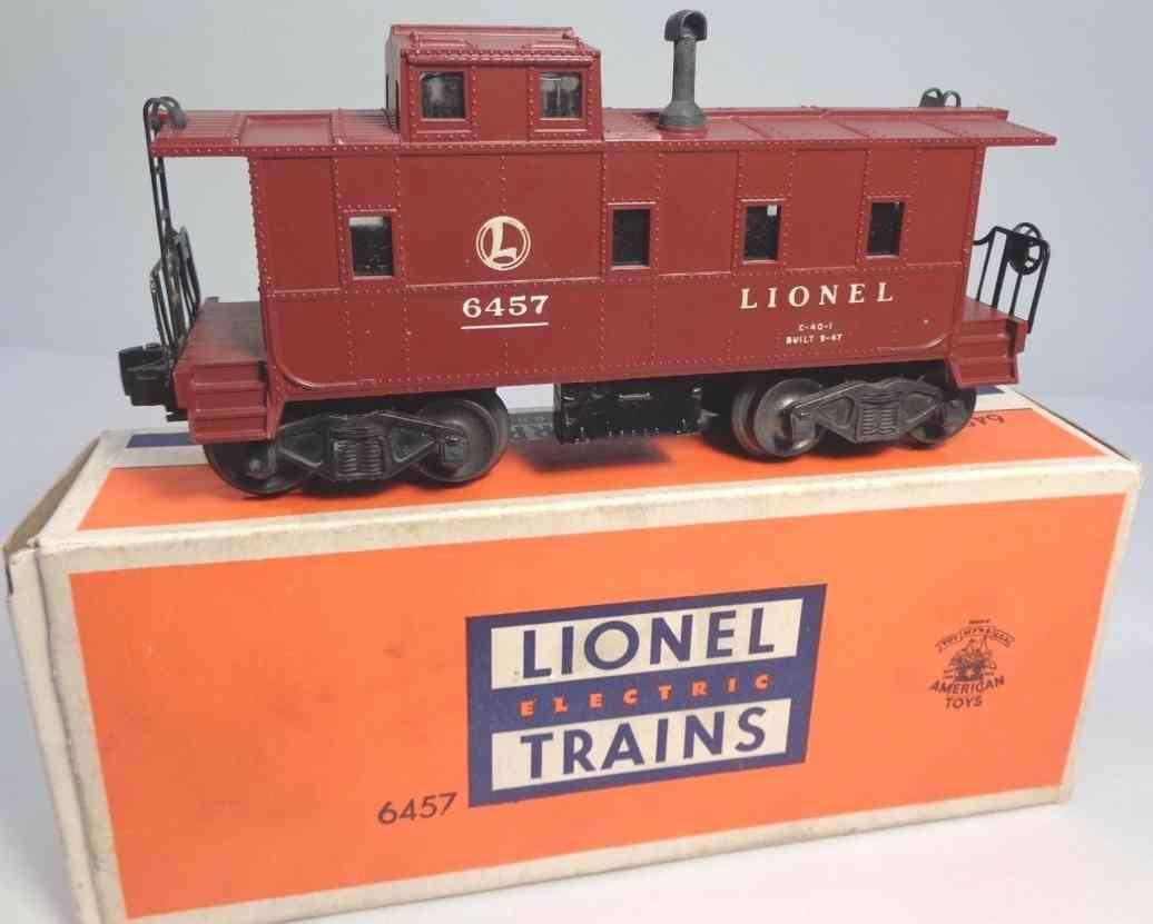 lionel 6457 spielzeug eisenbahn caboose spur 0