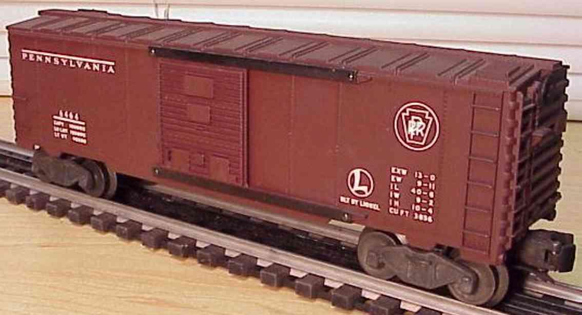lionel 6464-200 eisenbahn pennsylvania gedeckter gueterwagen toskanisch spur 0