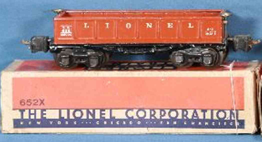 lionel 652 railway toy gondola orange gauge 0
