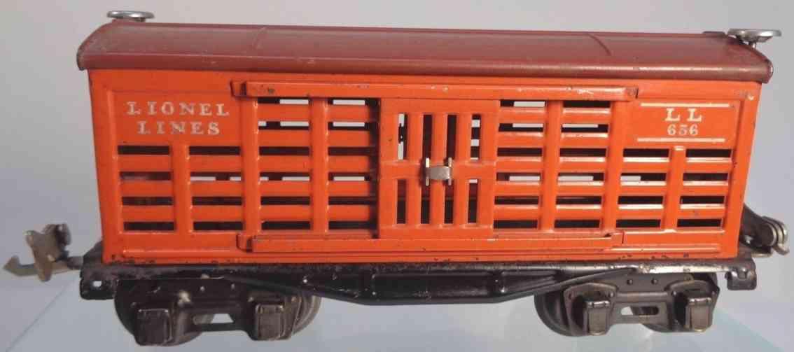 lionel 656 railway toy stock car orange toscan gauge 0