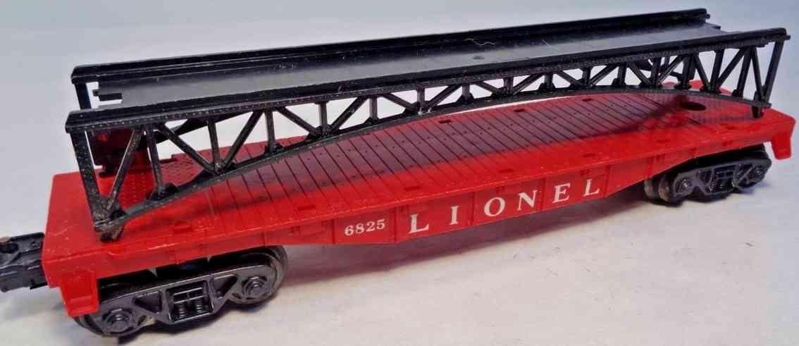 lionel 6825 spielzeug eisenbahn flachwagen mit brückengestell spur 0