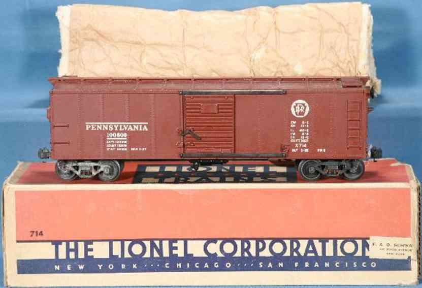 Lionel 714 Box car PENNSYLVANIA