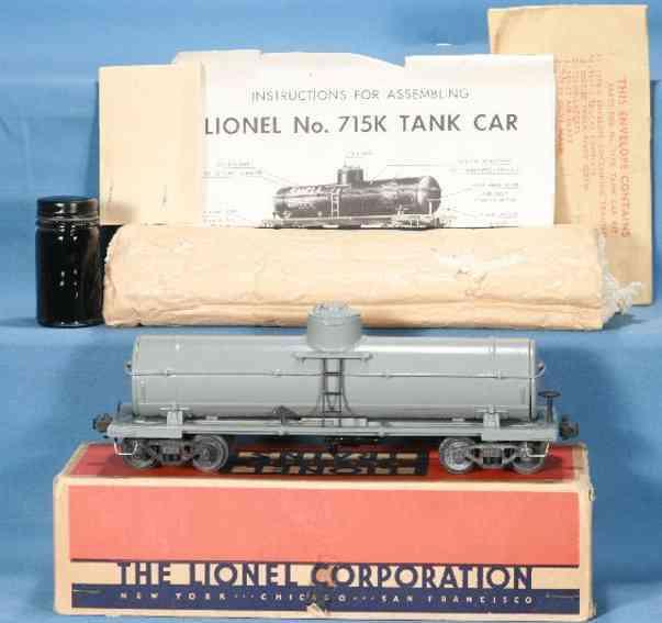 Lionel 715K/I Tank car kit