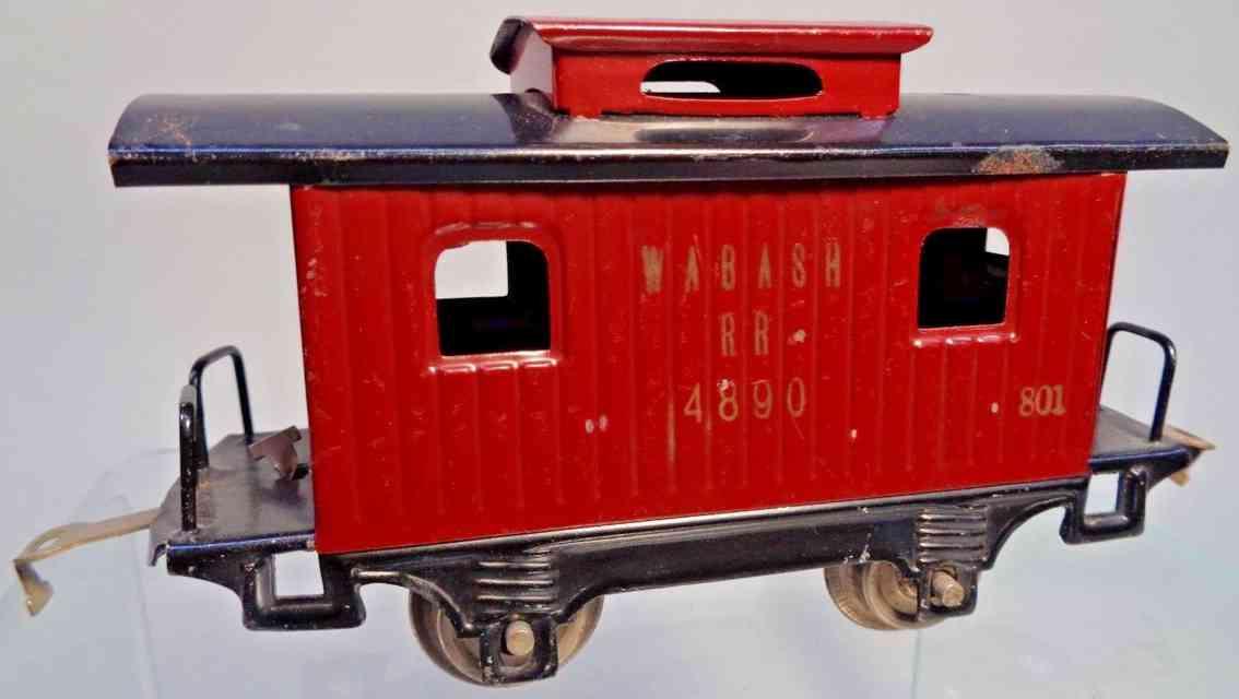 lionel caboose braun schwarz wabash rr 4890 spur 0