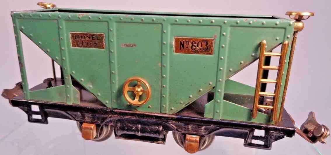 lionel 803 spielzeug eisenbahn schuettgutwagenpfauenblau spur 0