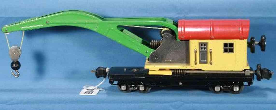 lionel 810 spielzeug eisenbahn kranwagen creme rot spur 0
