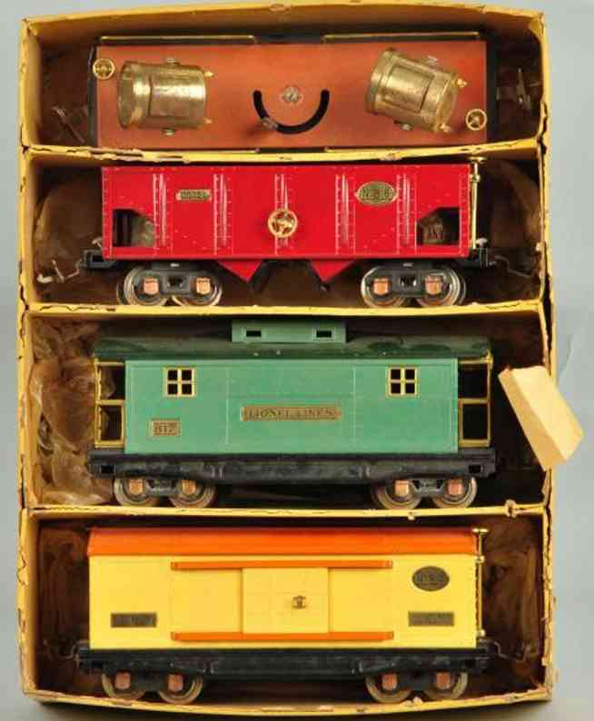 Lionel 814 816 817 820 Freight car gift pack
