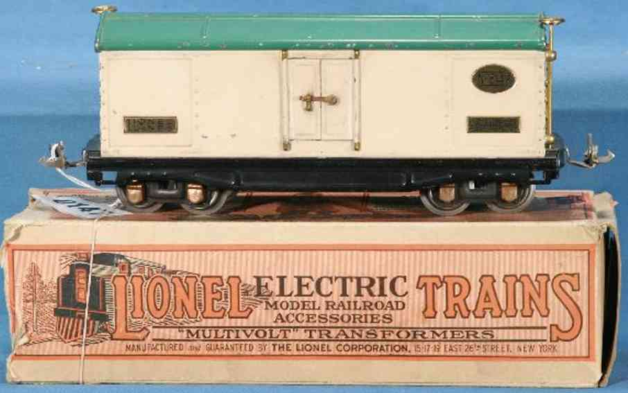 lionel 814r railway toy refrigerator car ivroy peacock gauge 0