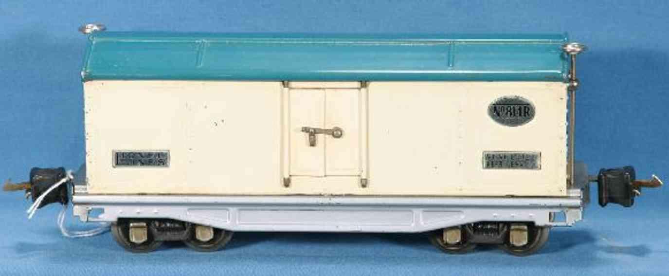 lionel 814r railway toy refrigerator car gloss whit blue gauge 0