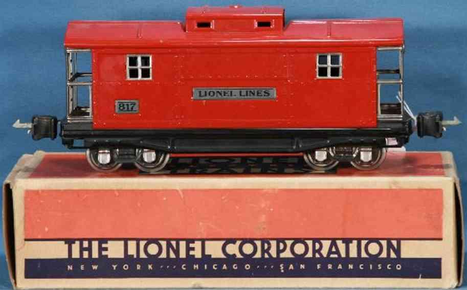 lionel 817 spielzeug eisenbahn caboose in rot spur 0