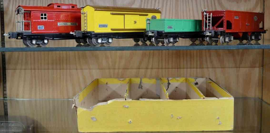 lionel 818 812 814 816 817 eisenbahn gueterwagen zubehoer set spur 0