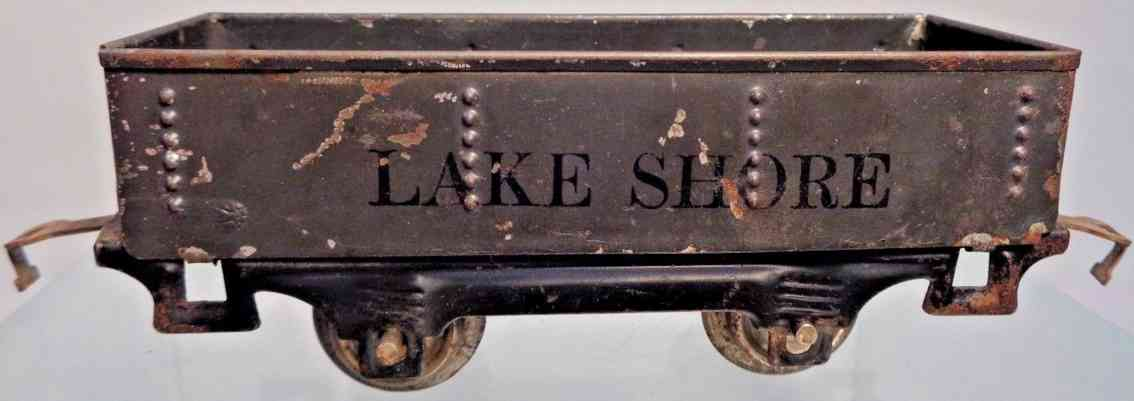 lionel 901 railway toy gondola gray lake shore black gauge 0