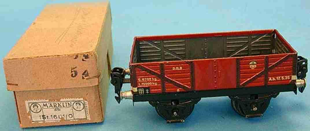 marklin 1661/0 railway toy box car hopper gauge 0