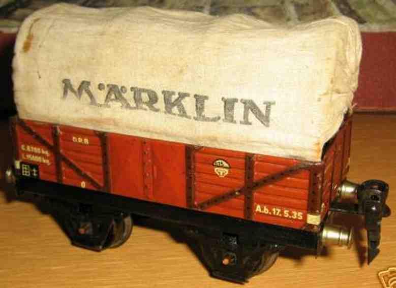 maerklin 1663/0 spielzeug eisenbahn planewagen in rotbraun spur 0