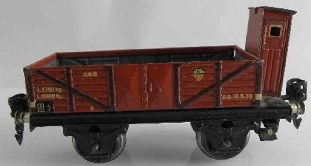 maerklin 1671/0 spielzeug eisenbahn offener gueterwagen mit bremserhaus spur 0