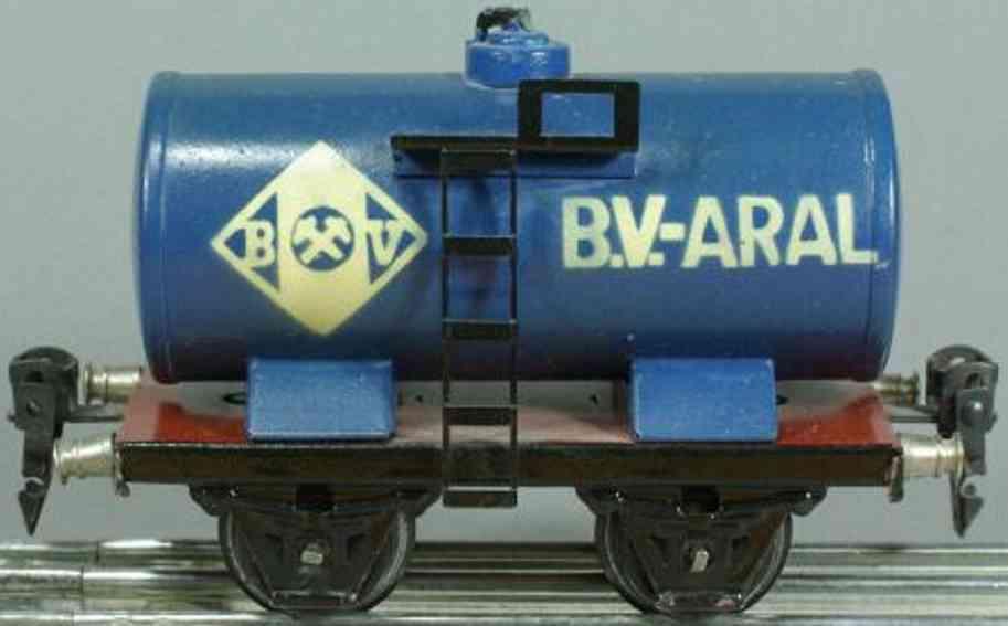 maerklin 1674/0 bv aral spielzeug eisenbahn kesselwagen blau spur 0