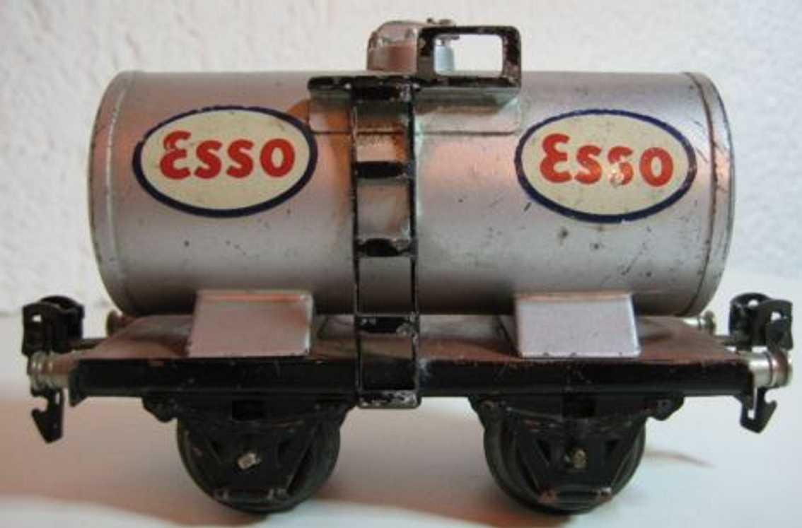 maerklin 1674/0 e spielzeug eisenbahn esso kesselwagen silbergrau spur 0