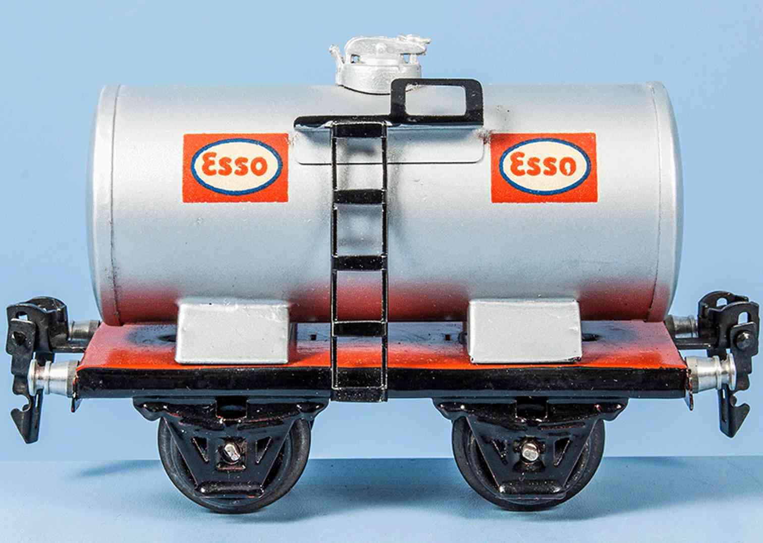 marklin 1674/0 e railway toy esso tank car silvery gray gauge 0