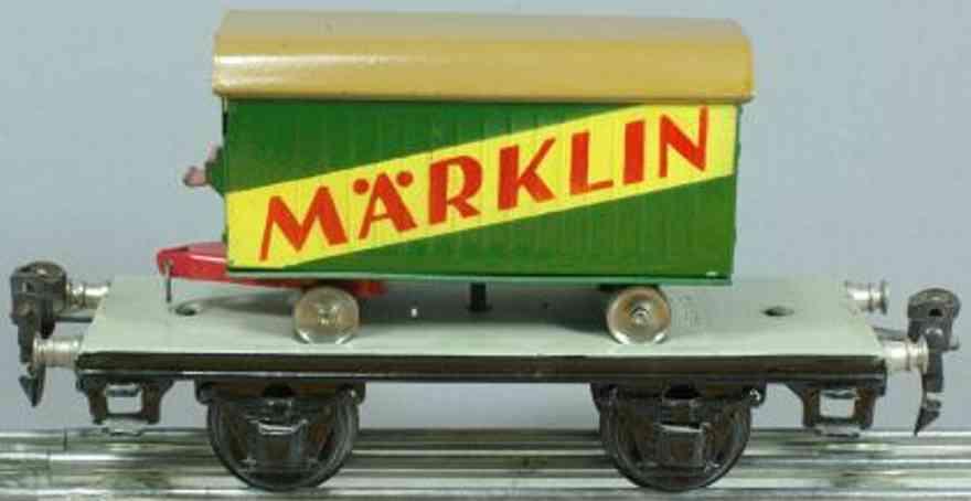 maerklin 1706 spielzeug eisenbahn plattformwagen moebelwagen spur 0