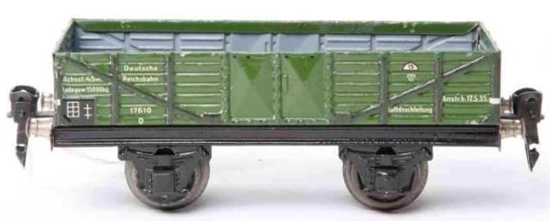 maerklin 1761/0 spielzeug eisenbahn offener gueterwagen in gruen spur 0