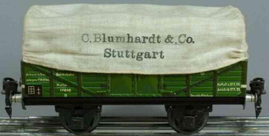 maerklin 1761/0 spielzeug eisenbahn planewagen gruen spur 0