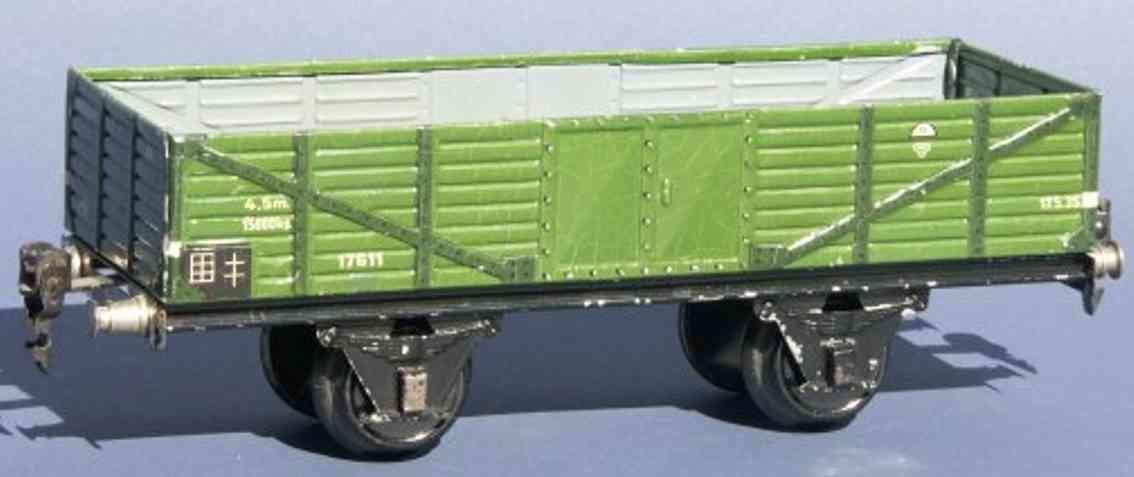 maerklin 1761/1 spielzeug eisenbahn offener gueterwagen gruen spur 1