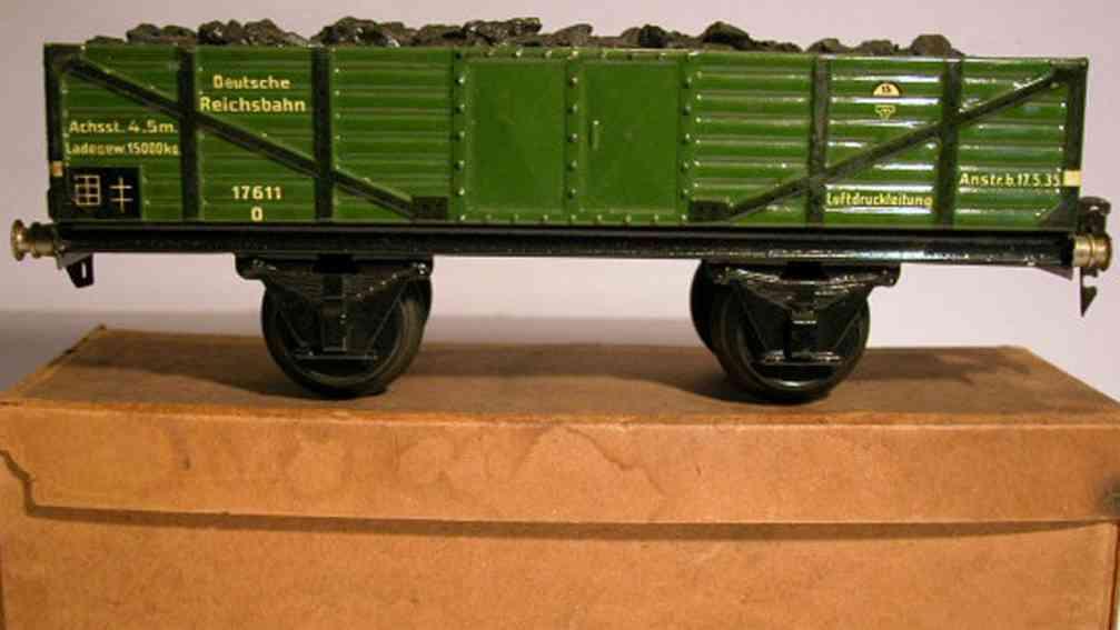 maerklin 1762/1 spielzeug eisenbahn offener gueterwagen spur 1