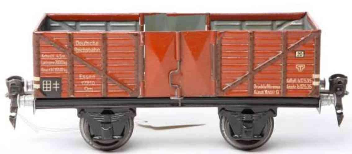 maerklin 1765/0 spielzeug eisenbahn hochbordwagen rotbraun spur 0