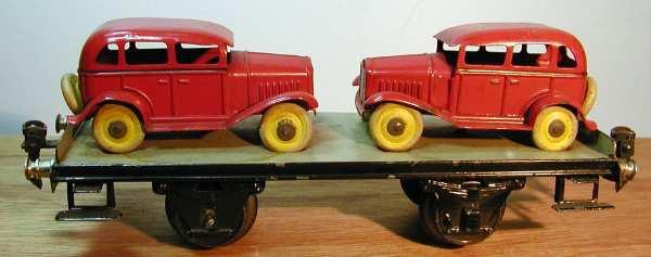 maerklin 1766/1 spielzeug eisenbahn plattformwagen zwei autos spur 1