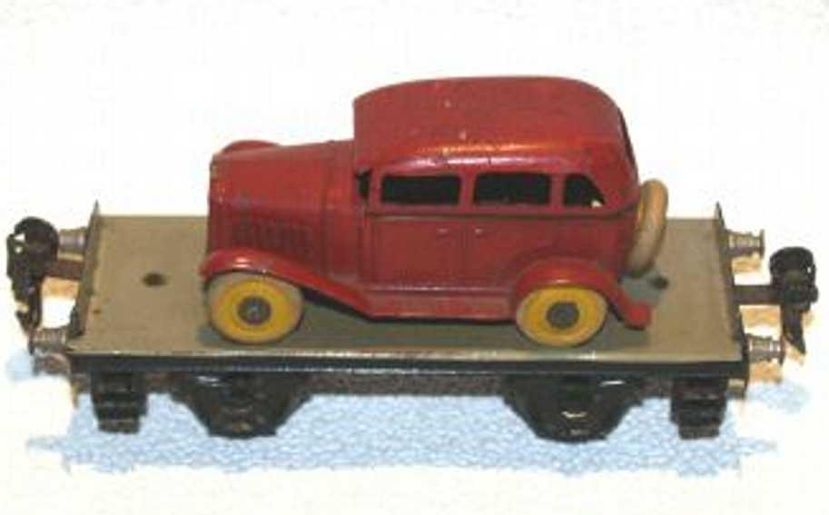 maerklin 1766/0 (1934) spielzeug eisenbahn plattformwagen auto spur 0