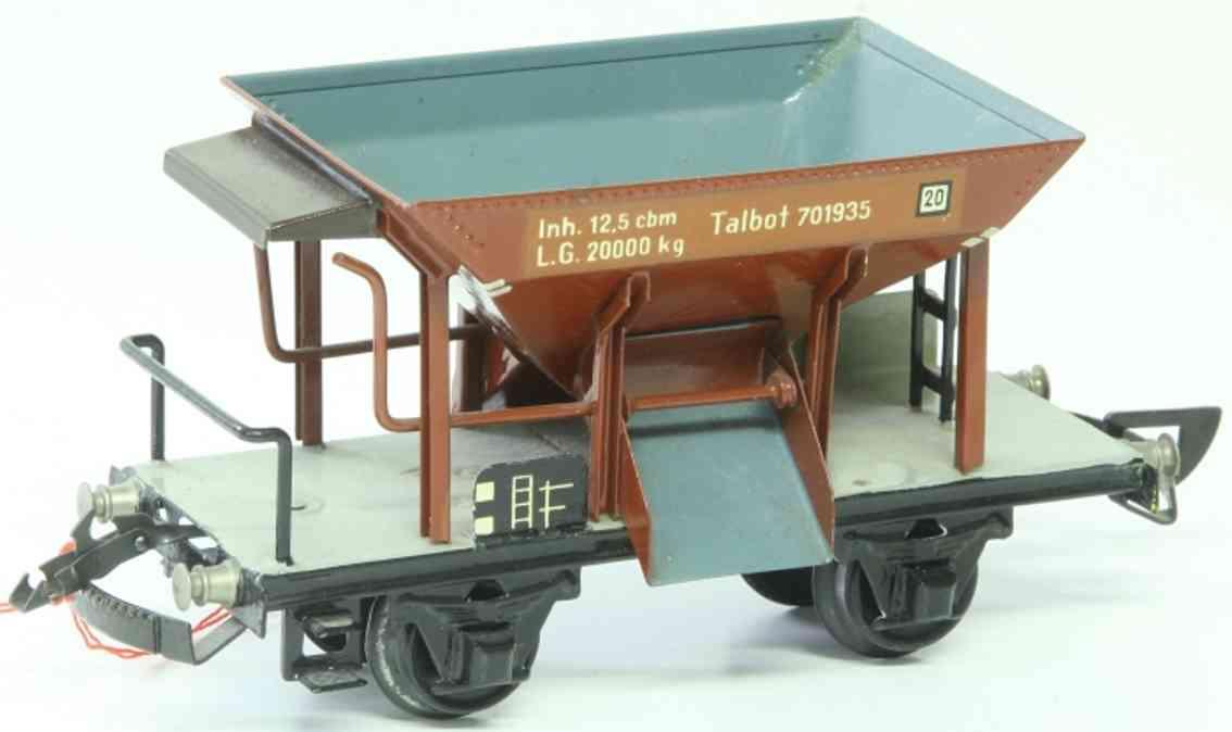 maerklin 1767/0 k spielzeug eisenbahn talbot selbstentladewagen spur 0