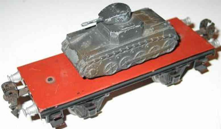 maerklin 1770/01 spielzeug eisenbahn plattformwagen mit panzer 9021/15521/51 spur 0