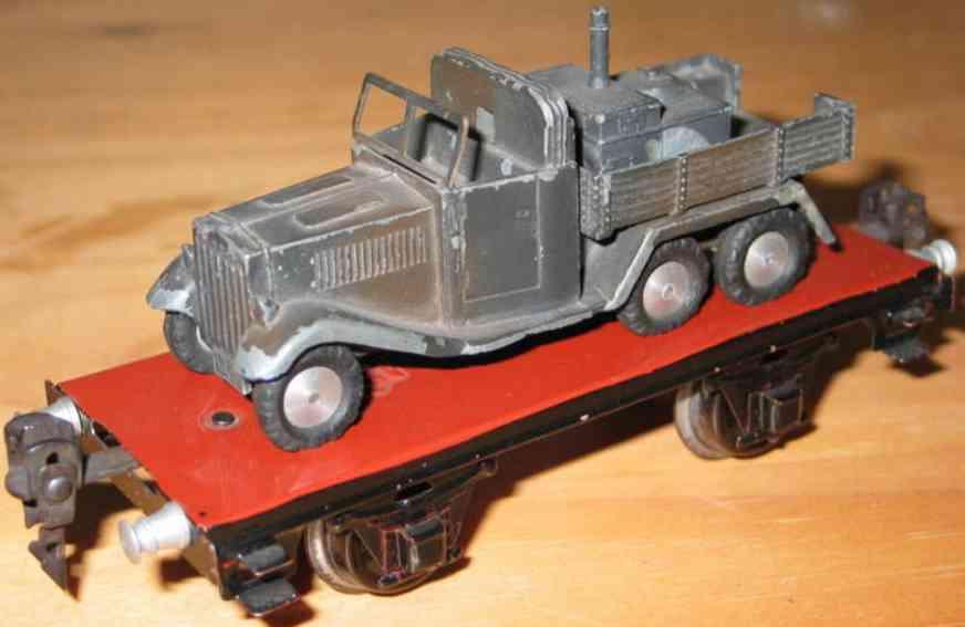maerklin 1770/15 spielzeug eisenbahn plattformwagen mit feldkueche spur 0