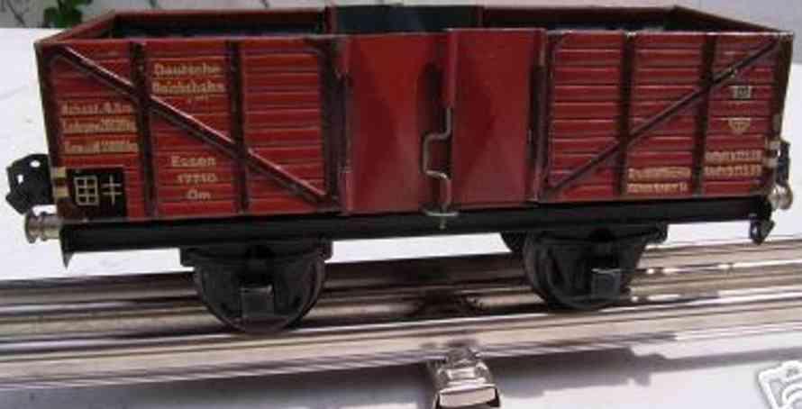 maerklin 1771/0 eisenbahn hochbordwagen ohne bremserhaus spur 0